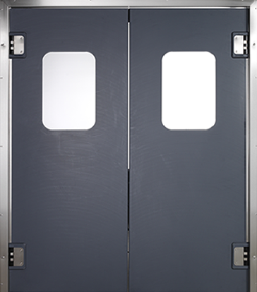 PE swingdoors Grothaus black double door